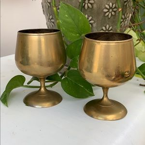 Vintage Brass Candle Cups, Set of 2 Home Decor